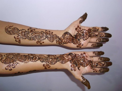 Henna Full Arm Designs Latest Arm Henna Design For