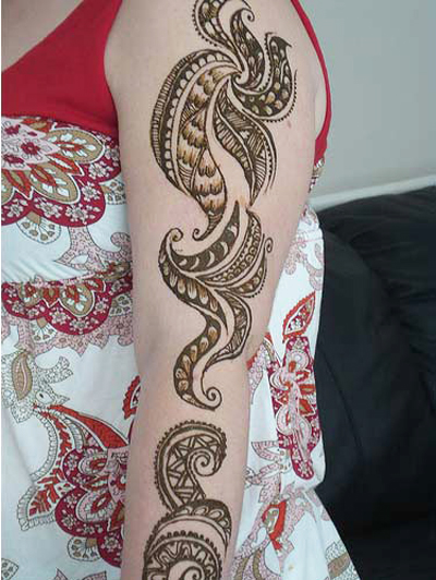 Modern Female Mehndi Designs for Arm