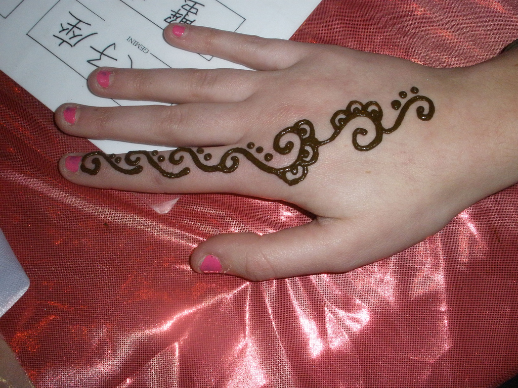Hand Mehndi Easy Design : Hand finger swirl simple henna designs pinterest