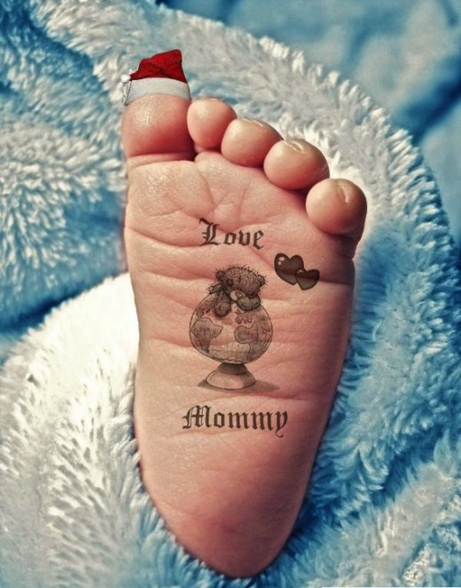 New under feet tattoo designs fashion sheplanet for Tattoos of baby feet