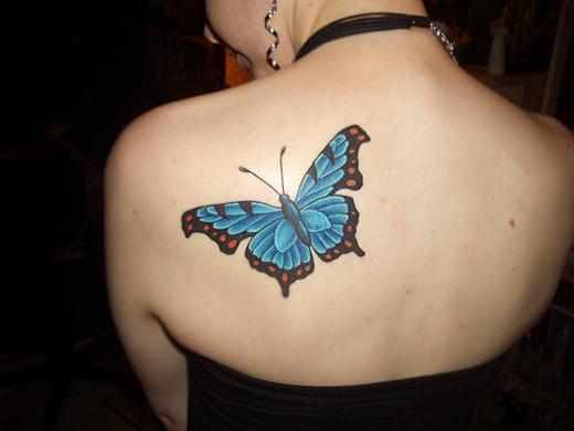 45 beautiful examples of butterfly inspired tattoo designs sheplanet. Black Bedroom Furniture Sets. Home Design Ideas