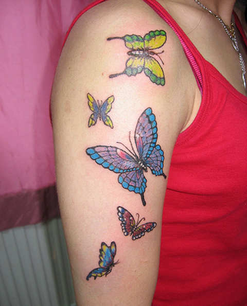45 beautiful examples of butterfly inspired tattoo designs for Butterfly tattoo arm designs