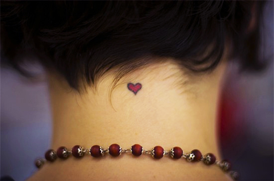 Cool Red Heart Tattoo for