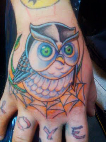 25 genius owl tattoo designs trend sheplanet for Female hand tattoos