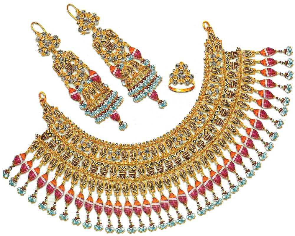 Gold Necklace Set Design for Women - ShePlanet