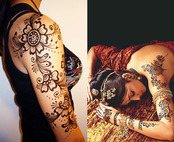 Mehndi Patterns For Shoulder : Stylish and trendy shoulder mehndi designs sheplanet