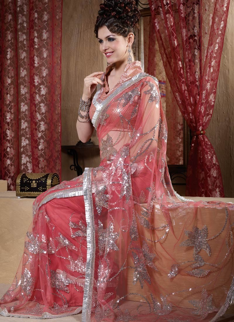 20 Fancy Embroidered Sarees Collection For 2012