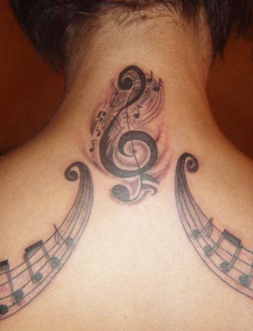 Music Note Tattoos On Hip Music-note-tattoo-design-for- ...