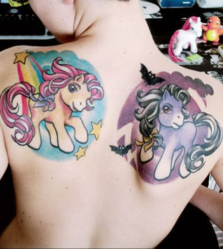 Permalink to Cute Cartoon Tattoo on Back for Sexy Girl