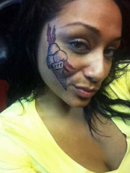 25 most delicious ice cream tattoo designs you should get for Asian face tattoos