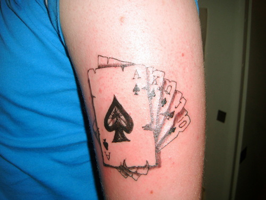 30  Coolest Play Cards Tattoo Designs Around The Web
