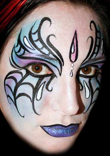 30 awesome face painting tattoo designs for female sheplanet. Black Bedroom Furniture Sets. Home Design Ideas