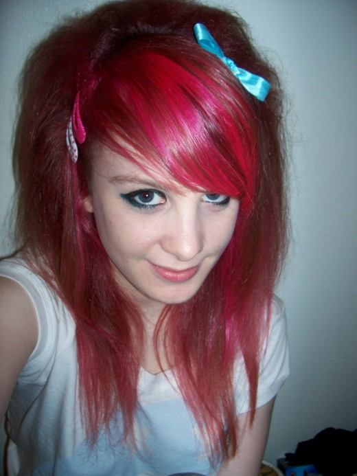 Scene girls for teen emo hairstyle