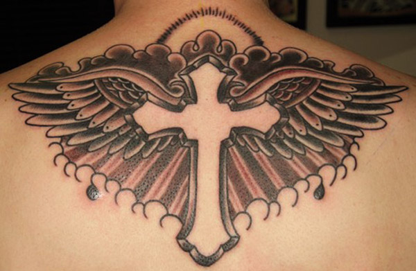 Cross And Wings Tattoo Design Sheplanet