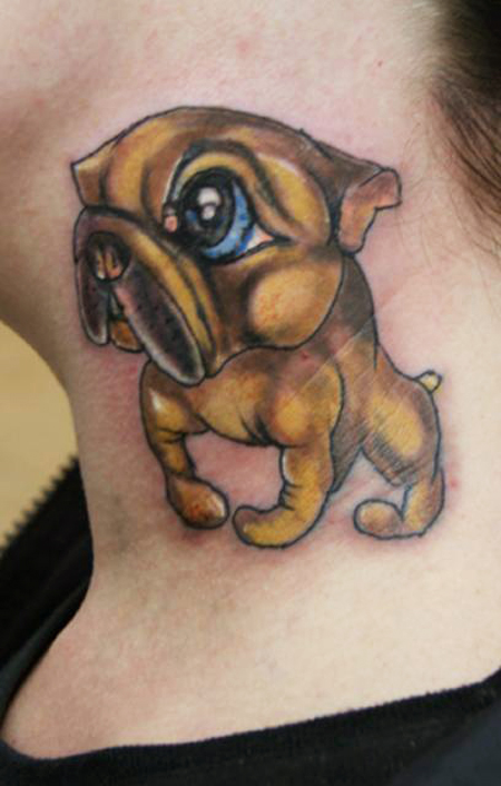 30 awesome dog tattoo designs for your tattoo art sheplanet. Black Bedroom Furniture Sets. Home Design Ideas