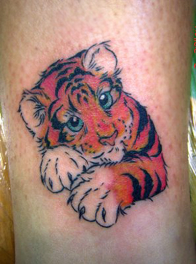 tribal tattoo bear cub 30 ShePlanet Ideas Most Tattoo Powerful Designs Tiger