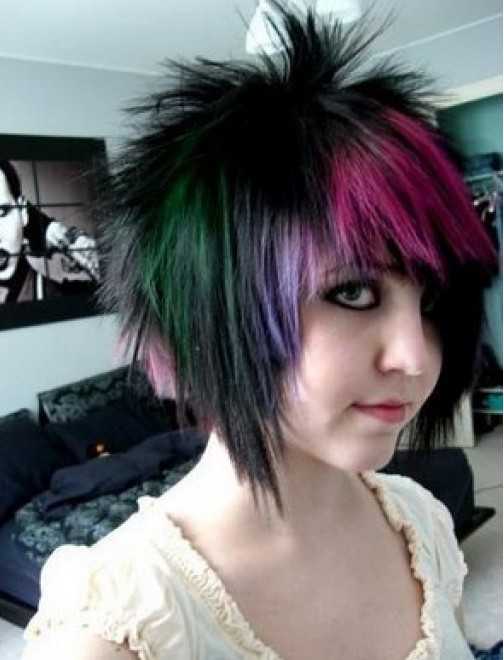 modern cool emo hairstyles for girls 2012   shepla