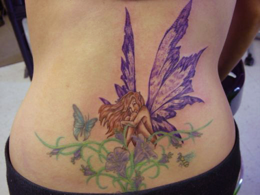 34 most beautiful fairy tattoo designs for girls 2012 sheplanet. Black Bedroom Furniture Sets. Home Design Ideas