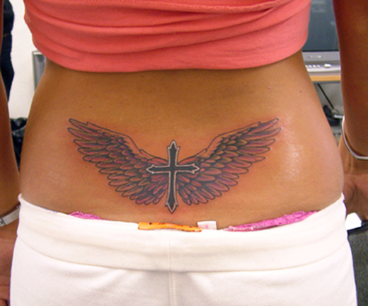 Girls Lower Back Cross Tattoo Trend Sheplanet
