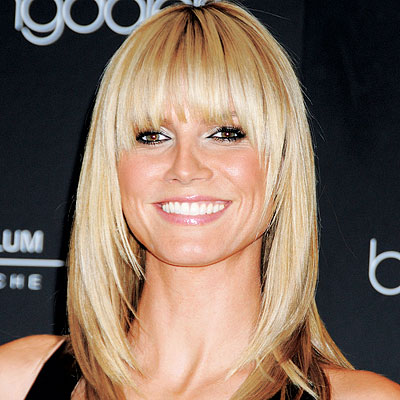 Fringe Hairstyle on Heidi Klum Fringe Hairstyle Trend