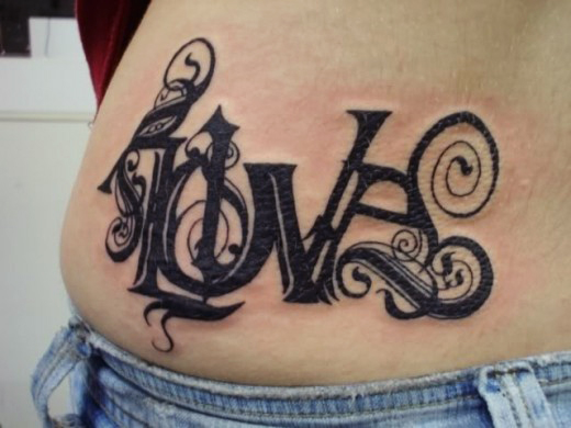 Hip Love Tattoo Design 201112