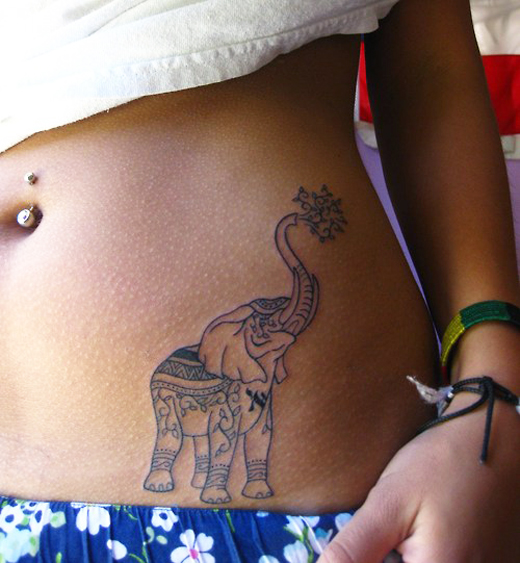 35 meaningful elephant tattoo designs will surprise you sheplanet. Black Bedroom Furniture Sets. Home Design Ideas