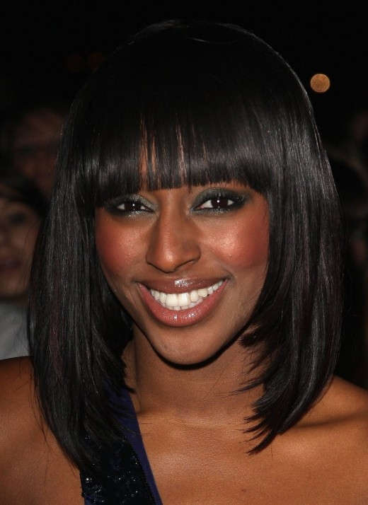 10. Outstanding Long Bob Hairstyles Fashion for Black Women