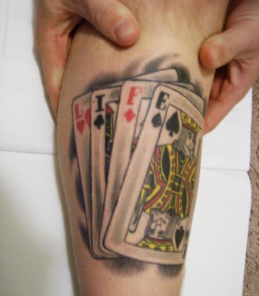 30 coolest play cards tattoo designs around the web sheplanet. Black Bedroom Furniture Sets. Home Design Ideas