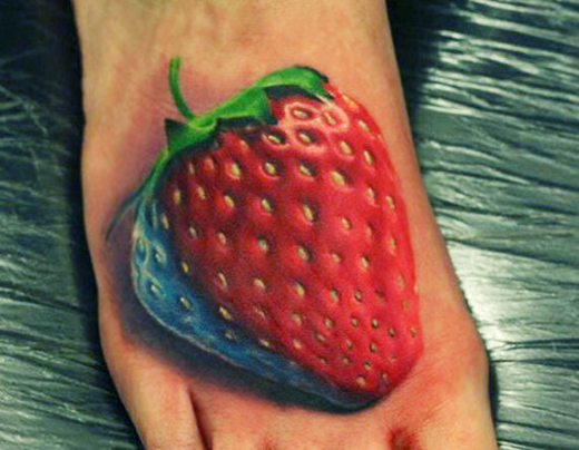 25  Yum Strawberry Tattoo Designs Looking Sexy In Every Way