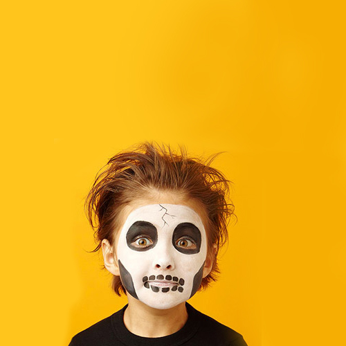 Easy Skeleton Face Painting Designs