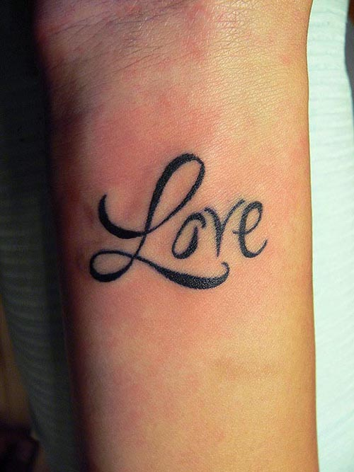30 awesome love text tattoo designs for lovers sheplanet. Black Bedroom Furniture Sets. Home Design Ideas
