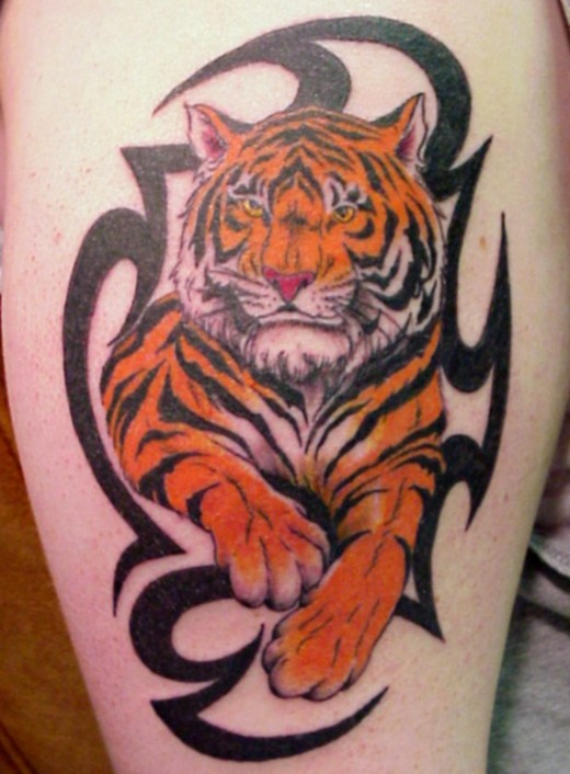 30 most powerful tiger tattoo designs ideas sheplanet. Black Bedroom Furniture Sets. Home Design Ideas