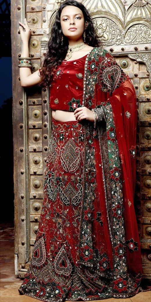 2012 Embroidered Lehenga Choli Designs