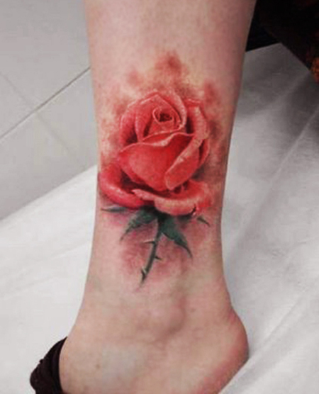 Red Flower Tattoo Designs