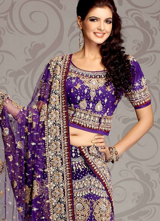 A line Lehenga Choli With Embroidery