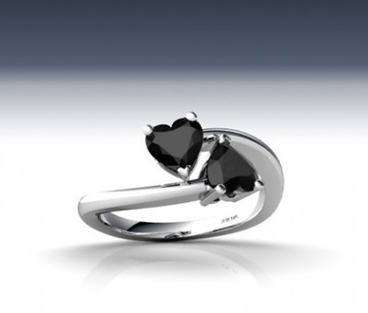 Black Diamond Ring Design