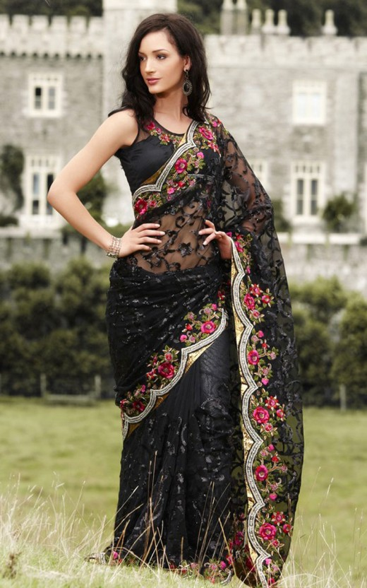 Designer Sarees with Matching Blouse