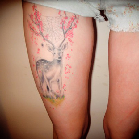 Cute Deer Tattoos For Women