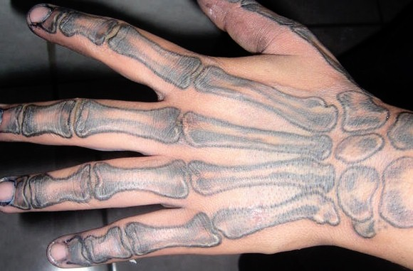 hands skeleton tattoo on hand sheplanet. Black Bedroom Furniture Sets. Home Design Ideas