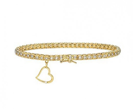 Heart Gold Bracelet Design