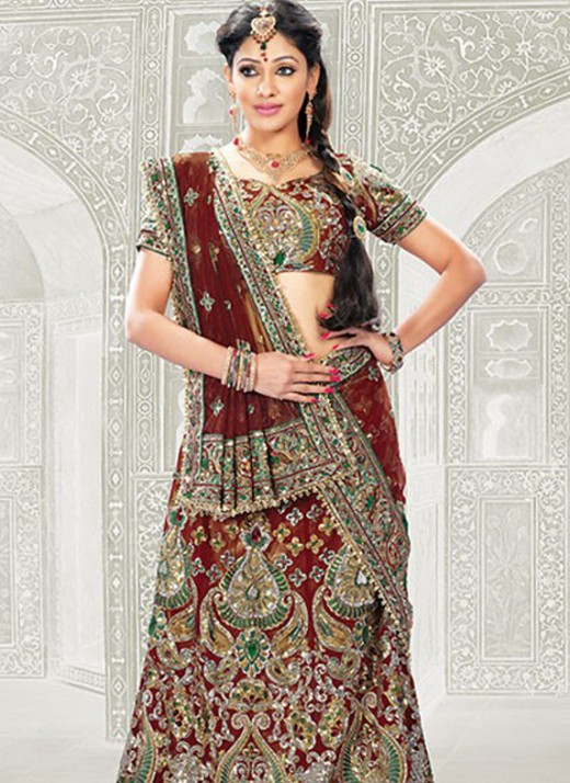 Heavy Embroidered Lehenga Choli for Wedding