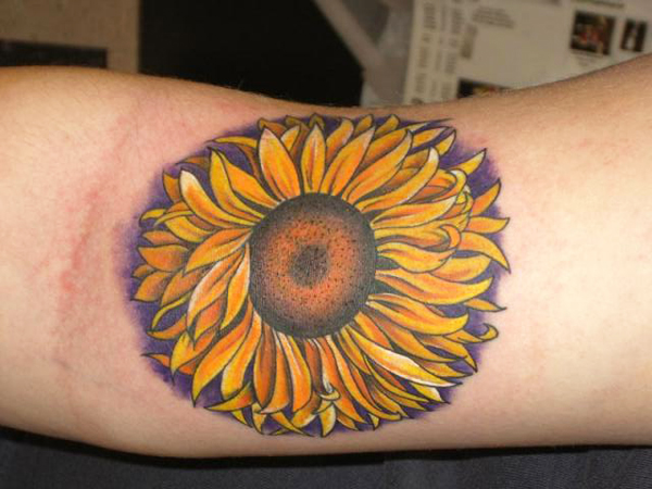 Large Sunflower Tattoo Style For Arms Sheplanet