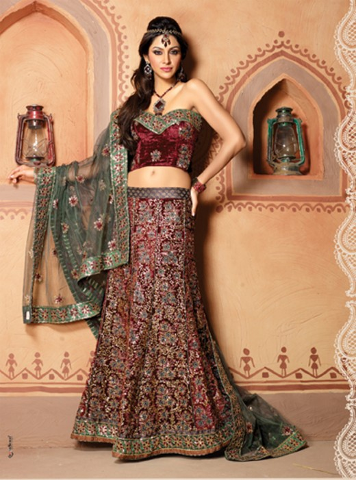 Latest Embroidered Lehenga Choli