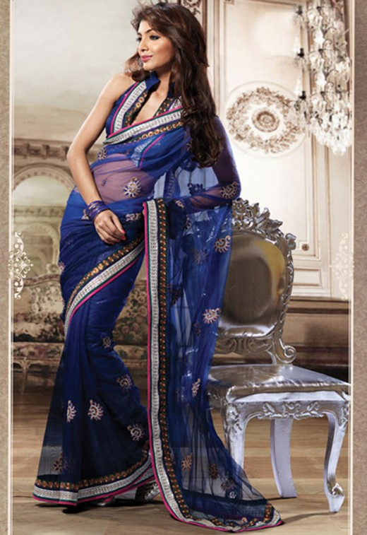 Party Saree with Blouse Design