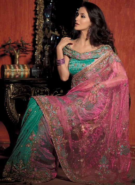 Party Saree with Blouse Latest Collection