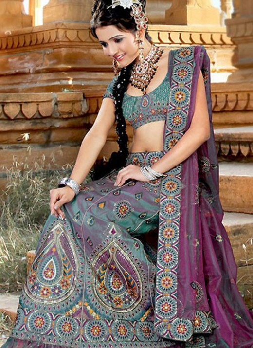 Stylish Embroidered Lehenga Choli