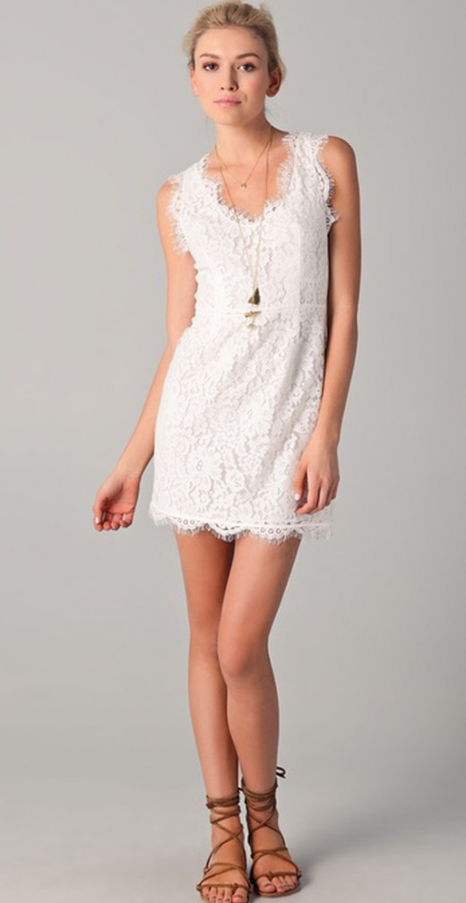White Mini Dress Design