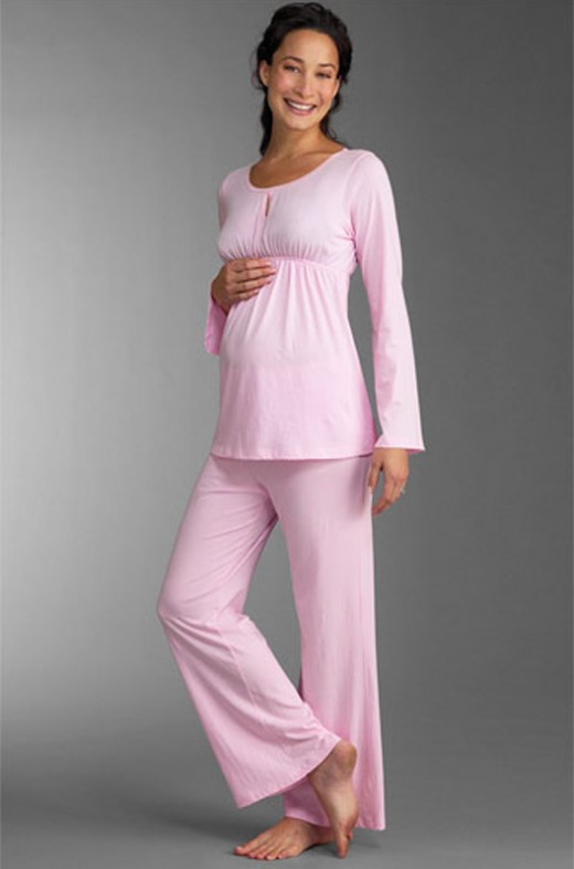 Pink Maternity Night Dress Design