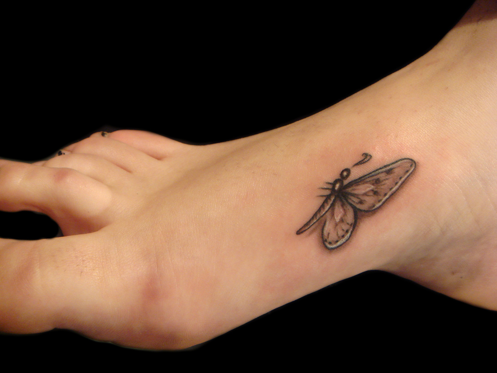 Cute Black Butterfly Tattoo Design ShePlanet