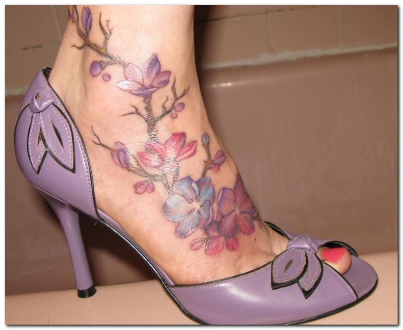 Foot tattoos best art designs for Tattoo ideas for foot